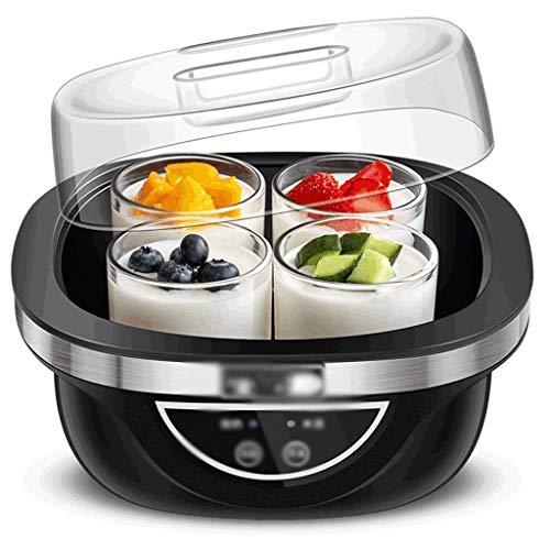 JTGYA Joghurt-Hersteller-Maschine des Haushalt Einstellbare Temperatur Zeit Automatische 4 Glas Split Cup Liner Perfekt for Baby, Kinder