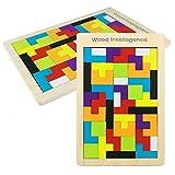 Tangram Holzpuzzles Lernspielzeug Intelligenz Pädagigisches Spielzeug für Kinder Familenspiel (40 Stück)