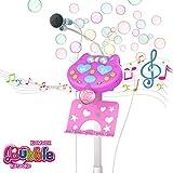 Blase Karaoke Mikrofon für Kinder mit Ständer, Musik Karaoke Kida, Bluetooth Blase Karaoke Mikrofon Party Lautsprecher, Mädchen Mikrofon Mit Blase, Mädchen Geschenke 5 6 7 8 9 Jahre (Rosa)