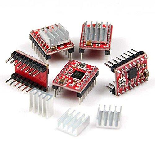 Snowsun confezione da 5A4988Stepstick stepper Motor driver modulo + dissipatore di calore per stampante 3D RepRap