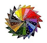12Paisley-Stirnbänder, 12Farben, 100% Baumwolle