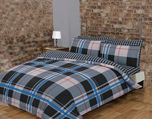 Price comparison product image Atlanta Grey 50% Cotton Duvet Cover Bedding Set (Double)