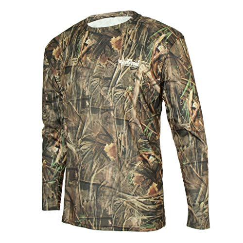 perfk 1 Stück Langarm Camo T-Shirt Ideal für Freizeit, Sport, Jagd, Schießen, Angeln - L - Tarnung-fischen-shirt