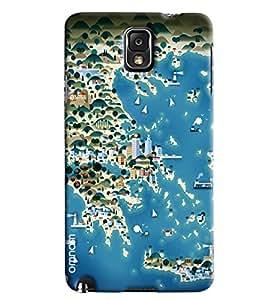 Omnam Sea Side Of Ocean Cartoon Printed Designer Back Cover Case For Samsung Galaxy Note 3