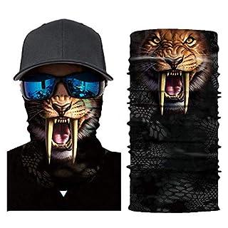 3D Animal Face Mask, ZZM Cycling Face Mask, Motorcycle Neck Tube Warmer Ski Scarf Face Shields Sun M 333692