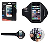 DFV mobile - Professional Cover Neoprene Waterproof Armband Wraparound Sport with Buckle for => Sony Xperia Z > Black