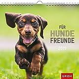 Für Hundefreunde 2019: Dekorativer Wandkalender mit Monatskalendarium | Maße (BxH): 21x20cm