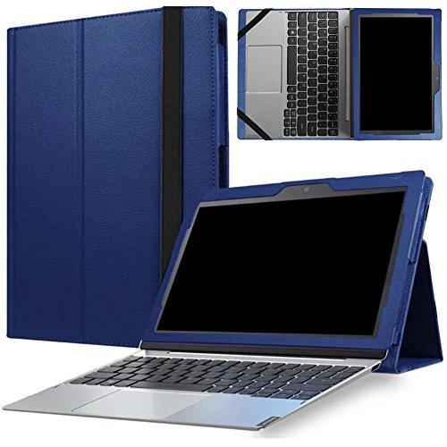 MaxKu Lenovo Miix 320 Hülle Case, Ultra Schlank Smart PU Leder Cover Tasche Schutzhülle Case für Lenovo Miix 320 mit Standfunktion, Blau