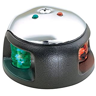 Attwood LED 1-Mile Deck Mount Navigation Bow Light, Stainless Steel by attwood