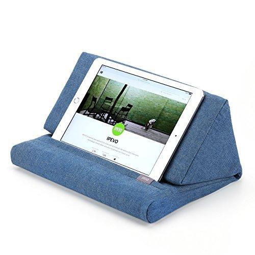 IPEVO PadPillow Cuscino Leggio per iPad 4 e iPad 3 e iPad 2 e 1 - Blu Denim