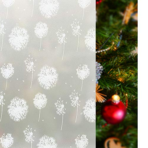 Rabbitgoo Vinilo de Ventana de Privacidad Pegatina Deslustrada de Ventana Láminas Electrostáticas para Ventanas Pegatina Decorativa Translúcida Sin Pegamento para la Navidad 44.5 * 200cm