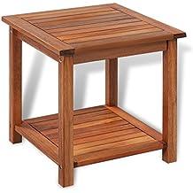 vidaXL Table basse en bois d'Acacia Table d'appoint Table de jardin terrasse extérieur