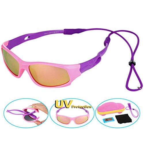 Vbiger occhiali da sole per bambini polarizzati anti-riflesso uv per bimbi e bambini 3-10 anni