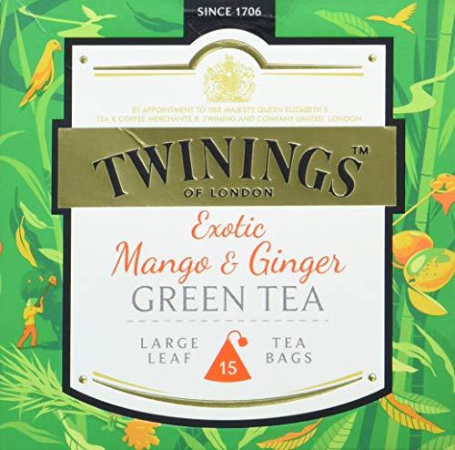 Twinings Exotic Mango und Ginger Green Tea, 4er Pack (4 x 30 g)