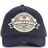 DSQUARED2 Herren Accessoires Navy Blau Baseball Cap Herbst-Winter 2019