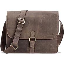 Packenger Aslang XL Messenger Bag aus Echtleder in verschiedenen Farben