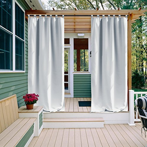 Tab-top-panel (nicetown One Panel Tab Top Outdoor Vorhänge)