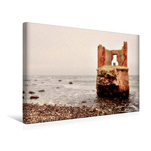 Calvendo Premium Textil-Leinwand 45 cm x 30 cm Quer, Ruine am Kap Arkona | Wandbild, Bild auf...
