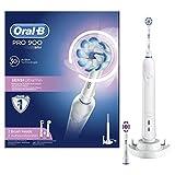 ORAL-B Pro 900–Cepillo de dientes eléctrico, con temporizador, sensi-touch Ultrathin y 3dwhite cabezales, color blanco