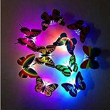 Illuminazione,WINWINTOM Notte Della Luce Led Colorful Cambio Farfalla Inizio Party Room Desk Della Decorazione Della (Farfalla Strings)
