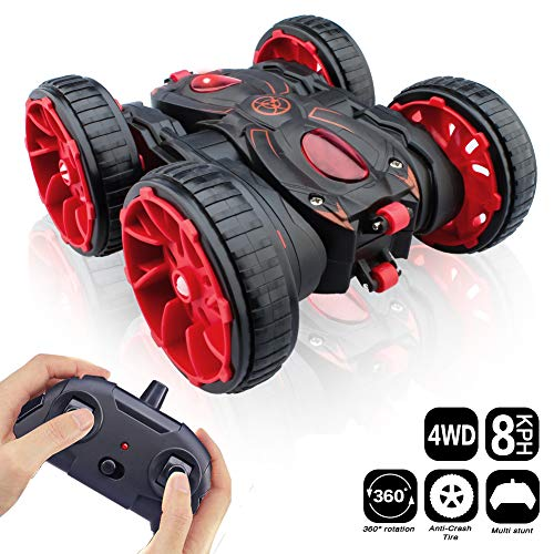 MaxTronic RC Cars, Remote Control Car Toy Vehicle 4WD 2.4Ghz 8 Mph Racing Stunt Car Double Sided 360°Rotation & Flips, Kids Toy Car for Boys & Girls Birthday Christmas