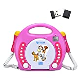 X4-TECH 701354 Kinder MP3/CD-Player Bobby Joey pink + 4 GB USB-Stick