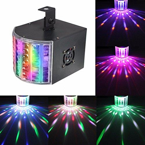 Etapa luces,KINGSO 6W DMX-512 RGB DJ Etapa de luz LED Mini etapa de DMX del partido de danza de la lámpara Mostrar Efecto de luz para discoteca, salón de baile, KTV, barra, la etapa, club, partido al aire libre de salón de baile, etc. - (Negro)