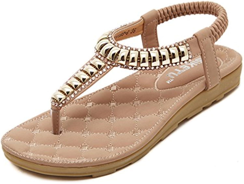 dqq plat string rose des femmes - plat dqq sandale 4.5 ce1766