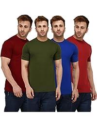 6d2bdcbdd London Hills Men s Cotton T-Shirt (Pack Of 4)  (Lh T Plain 4Combo Half Parent)