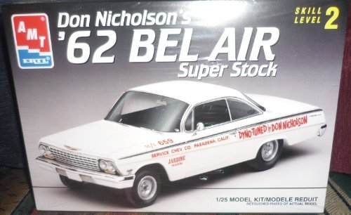 Don Nicholson's 1962 Bel Air Super Stock-Skill Level 2, 1/25 MODEL KIT by AMT Ertl - Stock Model Air