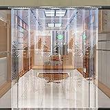 Keinode Striscia Tenda in PVC Trasparente/Porta Striscia Kit per Tende Verticali congelatore Room/Coldstore refrigeratore/1m (W) x 2m (D)–200mm x 2mm, 1 m x 2 m
