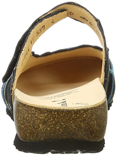 Sz Schwarz 181344 12 Clogs Think Damen Julia Petrol 6qZwnSv