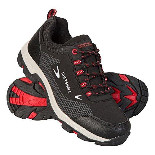 Fuß-spa-jet (Mountain Warehouse Softshell Schuhe für Kinder - Strapazierfähige Wanderschuhe, Atmungsaktive Wanderschuhe, Kinderschuhe mit Netzfutter, Laufschuhe - Für Reisen Schwarz Jet 36 EU)