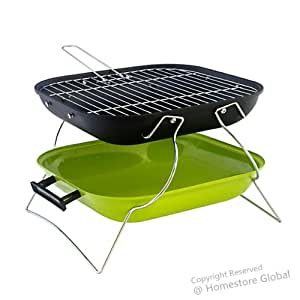 barbecue grill portable et pliable charbon de bois design l ger et tr s fonctionnel vert. Black Bedroom Furniture Sets. Home Design Ideas
