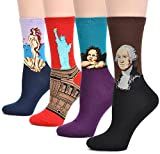 Spring fever Unisex Art Cotton Novelty Fun Christmas Casual Colorful Crew Socks
