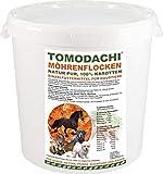 Tomodachi Möhrenflocken Hund, Karottenflocken Barf Gemüse, Ergänzungsfutter Hund, Verdauung, Stoffwechsel, Immunsystem, reich an Vitaminen, Mineralien, Beta-Carotin, kalorienarm, Diät, 1kg Eimer