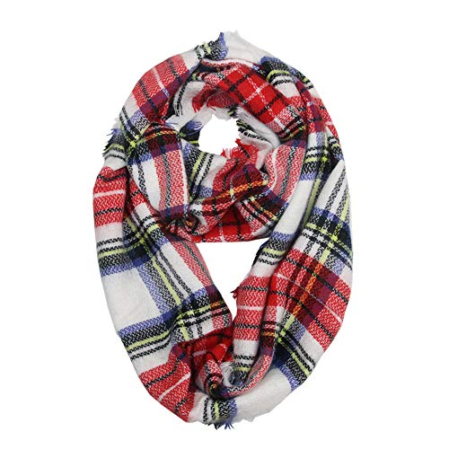 (Ring Hals Schals, Quaan Winter Warm Plaid Wärmer Wickeln Halsband Schal …)