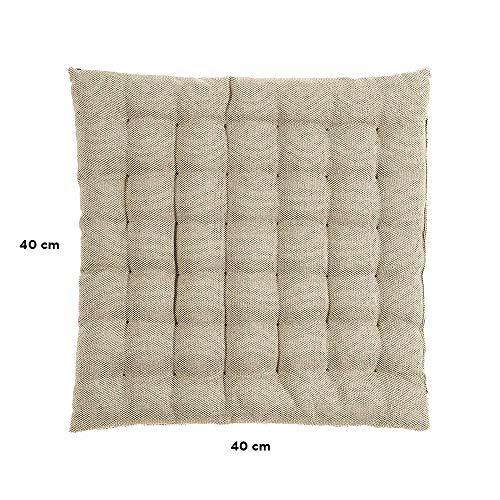 LINUM Sitzkissen PEPPER G06 beige 40cm x 40cm x 4cm, Dekokissen, Kissen, Wohntextilien - 2