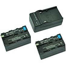 MP power @ 2X Reemplazo Li-ion batería NP-F750 NPF750 NP-F770 NP-F730 F730H 4600mah 7,4V + cargador para Sony HD-RFX1, HV-RZ1U, MVCCD-1000 TR7000
