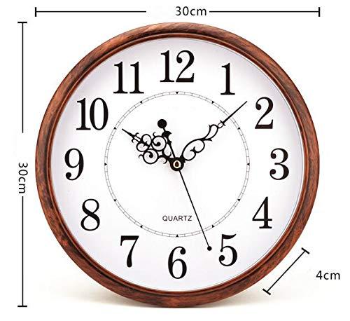 Tosnail 30 cm Orologio da Parete di Silenzioso Stile Vintage Decorazione a Muro - 5