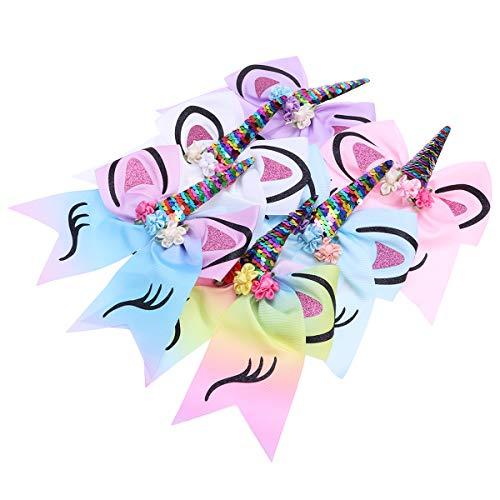 Haargummi Einhorn Haarspangen Fliege für Mädchen ()
