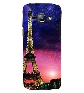 Fuson 3D Printed Designer back case cover for Samsung Galaxy J1 - D4516