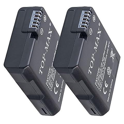 TOP-MAX® 2X EN-EL14 EN-EL14a Akku für Nikon Coolpix P7000 P7100 P7700 P7800 D3100 D3200 D3300 D3400 D5100 D5200 D5300 D5500 D5600, Nikon Df