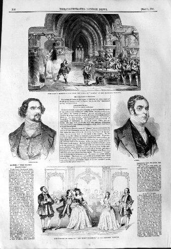 original old antique victorian print Théâtre 1844 de Diamants de Couronne d'Opéra Auber Zampa Fornasari [Cuisine et Maison] par original old antique victorian print