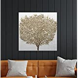 SAI creatives Single Frame,Beautiful Wall Painting of Golden Tree for Living Room, Bedroom,Drawing Room with Wooden Framed Mu