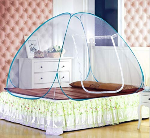 Wez Bed Linings Mosquito Net Portable Pop up Camping Tent Bed Canopy Mosquito Net Twin,150X200Cm,100 * 190 cm -