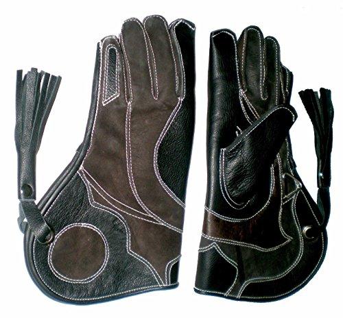 Handschuhe für die Falknerei, Nubukleder mit dreifacher Haut (3 Schichten), 30,5 cm lang, alle Größen erhältlich Gr. L, REGULAR