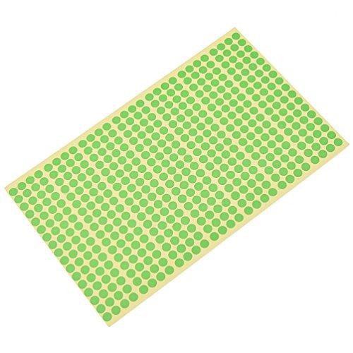 YNuth Etiquetas de Codificación Etiquetas Adhesivas Redondas de Papel Pegatinas de Punto Círculo Diámetro 6mm Color Verde