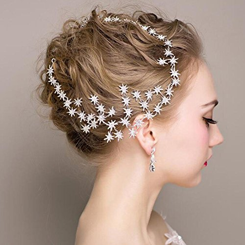 Dduumy new bride handmade headdress diamond star hair ornaments dduumy new bride handmade headdress diamond star hair ornaments accessories junglespirit Image collections