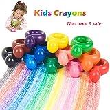 creyones de cera para niños, 7 colores lápices de colores de pintura para bebés, creativo cubo mágico en forma de cera dibujo crayones inteligencia juguetes para niños pequeños, niños, niños, niñas, adultos, lavables y no tóxicos